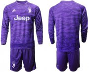 Wholesale Cheap Juventus Blank Purple Goalkeeper Long Sleeves Soccer Club Jersey