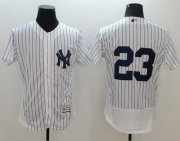 Wholesale Yankees #23 Don Mattingly White Strip Flexbase Authentic Collection Stitched Baseball Jersey