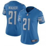 Wholesale Cheap Nike Lions #21 Tracy Walker Light Blue Team Color Women's Stitched NFL Vapor Untouchable Limited Jersey