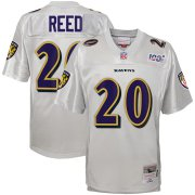 Wholesale Cheap Youth Baltimore Ravens #20 Ed Reed Mitchell & Ness Platinum NFL 100 Retired Player Legacy Jersey