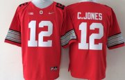 Wholesale Cheap Ohio State Buckeyes #12 Cardale Jones 2015 Playoff Rose Bowl Special Event Diamond Quest Red Jersey