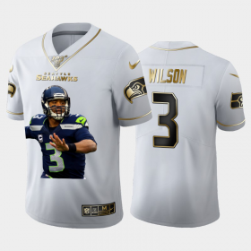 Cheap Seattle Seahawks #3 Russell Wilson Nike Team Hero 1 Vapor Limited NFL 100 Jersey White Golden