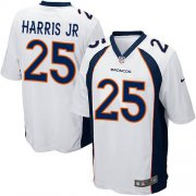 Wholesale Cheap Nike Broncos #25 Chris Harris Jr White Youth Stitched NFL New Elite Jersey