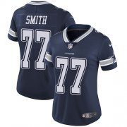 Wholesale Cheap Nike Cowboys #77 Tyron Smith Navy Blue Team Color Women's Stitched NFL Vapor Untouchable Limited Jersey