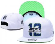 Wholesale Cheap Seahawks Team Logo White 2019 Draft Adjustable Hat YD