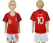 Wholesale Cheap England #10 Rooney Away Kid Soccer Country Jersey