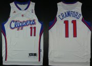 Wholesale Cheap Los Angeles Clippers #11 Jamal Crawford Revolution 30 Swingman White Jersey