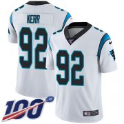 Wholesale Cheap Nike Panthers #92 Zach Kerr White Youth Stitched NFL 100th Season Vapor Untouchable Limited Jersey
