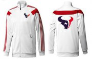 Wholesale Cheap NFL Houston Texans Team Logo Jacket White_1