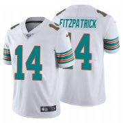 Wholesale Cheap Nike Dolphins #14 Ryan Fitzpatrick White Alternate Men's Stitched NFL 100th Season Vapor Untouchable Limited Jersey