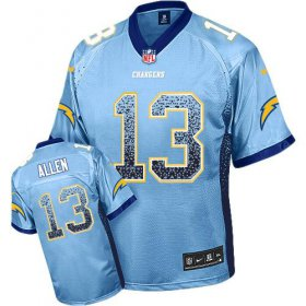 Wholesale Cheap Nike Chargers #13 Keenan Allen Electric Blue Alternate Men\'s Stitched NFL Elite Drift Fashion Jersey