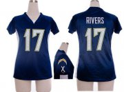 Wholesale Cheap Nike Chargers #17 Philip Rivers Navy Blue Team Color Draft Him Name & Number Top Women's Stitched NFL Elite Jersey