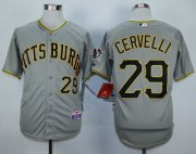 Wholesale Cheap Pirates #29 Francisco Cervelli Grey Cool Base Stitched MLB Jersey