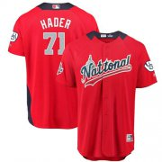 Wholesale Cheap Brewers #71 Josh Hader Red 2018 All-Star National League Stitched MLB Jersey