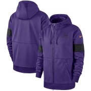 Wholesale Cheap Minnesota Vikings Nike Sideline Performance Full-Zip Hoodie Purple