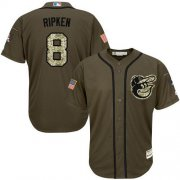 Wholesale Cheap Orioles #8 Cal Ripken Green Salute to Service Stitched Youth MLB Jersey