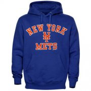 Wholesale Cheap New York Mets Fastball Fleece Pullover Royal Blue MLB Hoodie