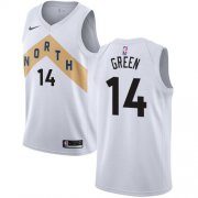 Wholesale Cheap Nike Raptors #14 Danny Green White NBA Swingman City Edition Jersey