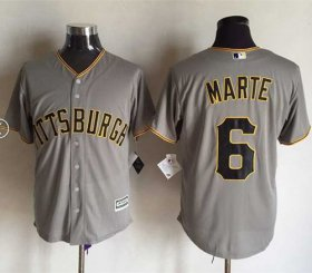 Wholesale Cheap Pirates #6 Starling Marte Grey New Cool Base Stitched MLB Jersey