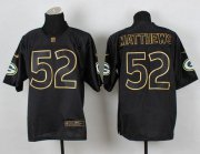 Wholesale Cheap Nike Packers #52 Clay Matthews Black Gold No. Fashion Men's Stitched NFL Elite Jersey