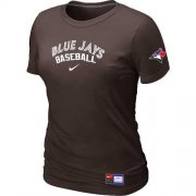 Wholesale Cheap Women's Toronto Blue Jays Nike Short Sleeve Practice MLB T-Shirt Brown