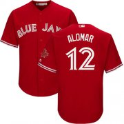 Wholesale Cheap Blue Jays #12 Roberto Alomar Red Cool Base Canada Day Stitched Youth MLB Jersey