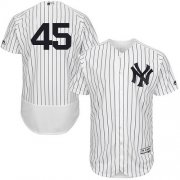 Wholesale Cheap Yankees #45 Gerrit Cole White Strip Flexbase Authentic Collection Stitched MLB Jersey