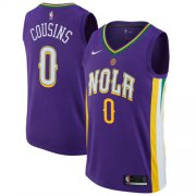 Wholesale Cheap Nike New Orleans Pelicans #0 DeMarcus Cousins Purple NBA Swingman City Edition Jersey