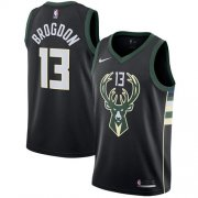 Cheap Youth Milwaukee Bucks #13 Malcolm Brogdon Black Basketball Swingman Statement Edition Jersey