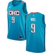 Wholesale Cheap Nike Thunder #9 Nerlens Noel Turquoise NBA Swingman City Edition 2018-19 Jersey