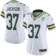 Wholesale Cheap Nike Packers #37 Josh Jackson White Women's 100th Season Stitched NFL Vapor Untouchable Limited Jersey