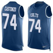 Wholesale Cheap Nike Colts #74 Anthony Castonzo Royal Blue Team Color Men's Stitched NFL Limited Tank Top Jersey