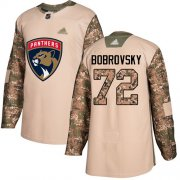 Wholesale Cheap Adidas Panthers #72 Sergei Bobrovsky Camo Authentic 2017 Veterans Day Stitched Youth NHL Jersey