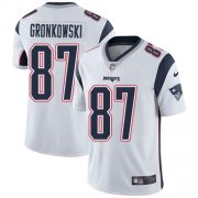 Wholesale Cheap Nike Patriots #87 Rob Gronkowski White Men's Stitched NFL Vapor Untouchable Limited Jersey