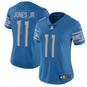 Wholesale Cheap Nike Lions #11 Marvin Jones Jr Light Blue Team Color Women's Stitched NFL Vapor Untouchable Limited Jersey