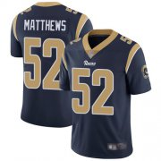 Wholesale Cheap Nike Rams #52 Clay Matthews Navy Blue Team Color Men's Stitched NFL Vapor Untouchable Limited Jersey