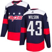 Wholesale Cheap Adidas Capitals #43 Tom Wilson Navy Authentic 2018 Stadium Series Stitched NHL Jersey