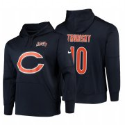 Wholesale Cheap Chicago Bears #10 Mitchell Trubisky Nike NFL 100 Primary Logo Circuit Name & Number Pullover Hoodie Navy