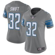 Wholesale Cheap Nike Lions #32 D'Andre Swift Gray Women's Stitched NFL Limited Rush Jersey