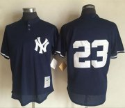 Wholesale Cheap Mitchell And Ness 1995 Yankees #23 Don Mattingly Blue Throwback Stitched MLB Jersey