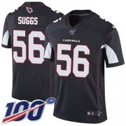 Wholesale Cheap Nike Cardinals #56 Terrell Suggs Black Alternate Men's Stitched NFL 100th Season Vapor Limited Jersey