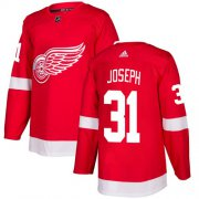 Wholesale Cheap Adidas Red Wings #31 Curtis Joseph Red Home Authentic Stitched NHL Jersey