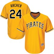 Wholesale Cheap Pirates #24 Chris Archer Gold Cool Base Stitched Youth MLB Jersey
