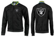 Wholesale Cheap NFL Las Vegas Raiders Team Logo Jacket Black_4