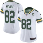 Wholesale Cheap Nike Packers #82 J'Mon Moore White Women's 100th Season Stitched NFL Vapor Untouchable Limited Jersey