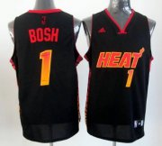 Wholesale Cheap Miami Heat #1 Chris Bosh 2012 Vibe Black Fashion Jersey