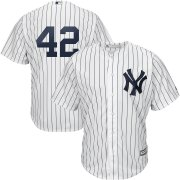 Wholesale Cheap New York Yankees #42 Mariano Rivera Majestic 2019 Hall of Fame Cool Base Player Jersey White Navy