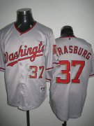 Wholesale Cheap Nationals #37 Stephen Strasburg Stitched Grey MLB Jersey