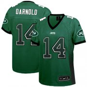 Wholesale Cheap Nike Jets #14 Sam Darnold Green Team Color Women's Stitched NFL Elite Drift Fashion Jersey