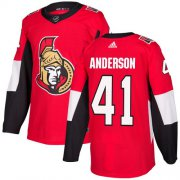 Wholesale Cheap Adidas Senators #41 Craig Anderson Red Home Authentic Stitched Youth NHL Jersey